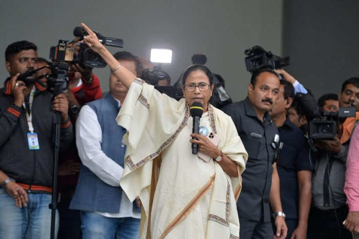 """""""I am your 'pehradar' (custodian), if anyone comes to take away your rights, he will have to do it over my dead body,"""" Mamata Banerjee was quoted as saying. (AFP Photo)"""