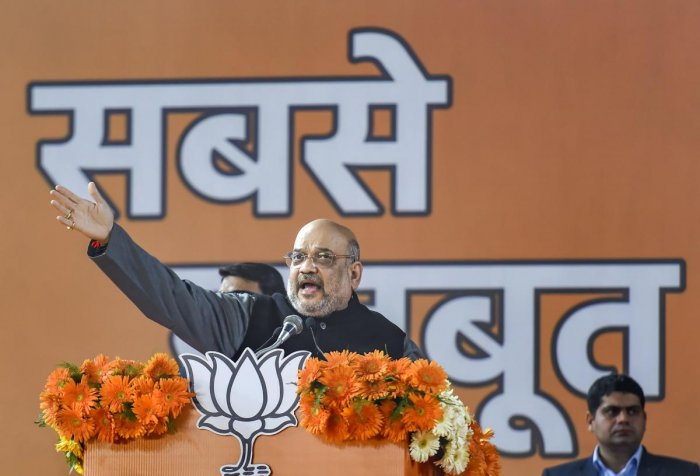 Congress and AAP, especially Rahul and Priyanka, are misleading minorities in the entire country: Amit Shah (Photo Credit: PTI)