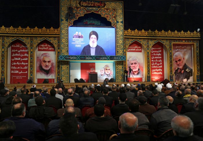 While there were rounds of an attack on Israel, Hezbollah chief restricted his respone to the US only. (Reuters Photo)