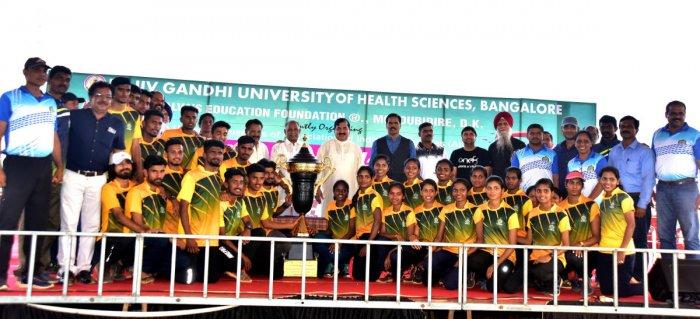 Mangalore University won the the 80th five-day All India Inter-University Athletics Championship, held at Moodbidri on Monday. DH PHOTO