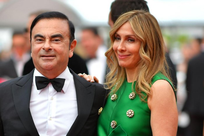 Carlos Ghosn (L) and his wife Carole arriving at the 70th edition of the Cannes Film Festival in Cannes. AFP file photo