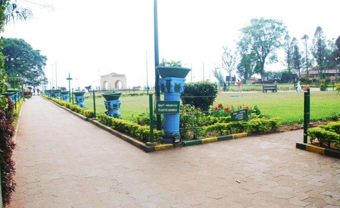 The Raja Seat in Madikeri.