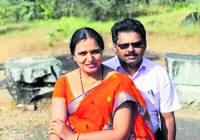 The accused doctor couple Dr N S Navin and Dr Rajeshwari.