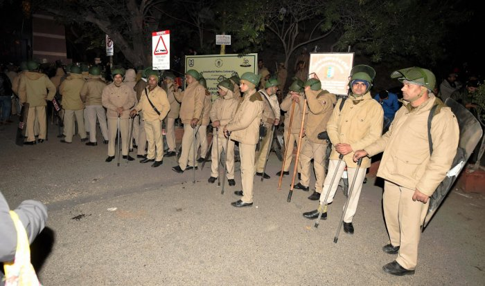 """Whether it be JNU or Jamia Millia Islamia, he said the Delhi Police has """"repeatedly failed"""" to protect the students peacefully protesting against the Citizenship Amendment Act. (PTI photo)"""