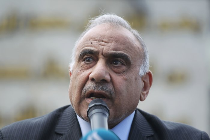 Iraq's caretaker prime minister Adel Abdel Mahdi. (AFP Photo)
