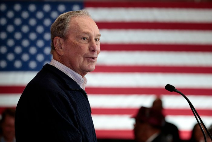 Democratic presidential hopeful and former New York Mayor Michael Bloomberg. (AFP Photo)
