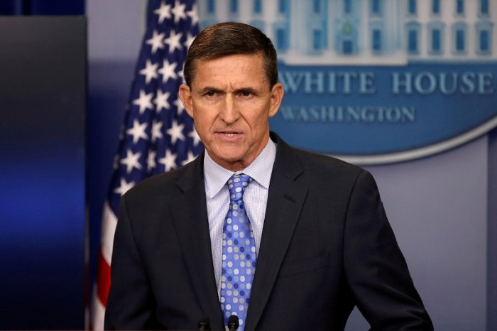 Then national security adviser General Michael Flynn delivers a statement daily briefing at the White House in Washington. (Reuters Photo)