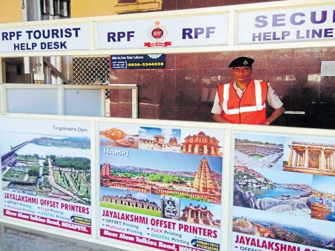 Tourist-friendly helpdesk set up at Hosapete railway station