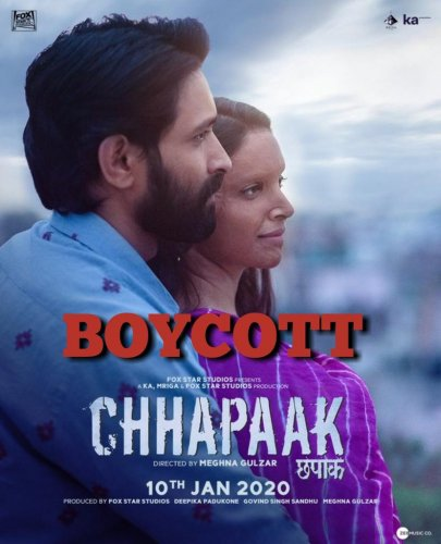 Chhapaak, featuring Deepika in the role of an acid attack survivor,isa crucial release for her as she has produced it in collaboration with director Meghna Gulzar and Fox Studios. (Credit: Twitter)