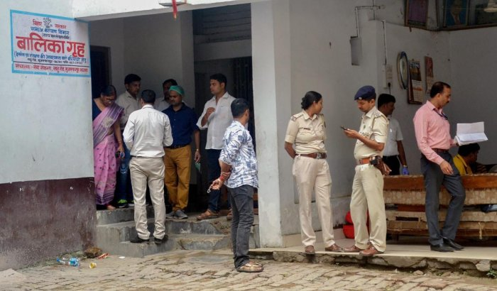 Central Bureau of Investigation (CBI) along with the officers of Central Forensic Science Laboratory (CFSL) investigate the shelter home, where 34 minor girls were allegedly raped, in Muzaffarpur. (PTI photo)