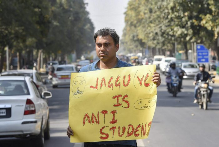 The JNU VC was also criticised by Teachers and Students alike for allegedly asking students to return back to the premises, forgetting all that has happened in the past days. (PTI Photo)