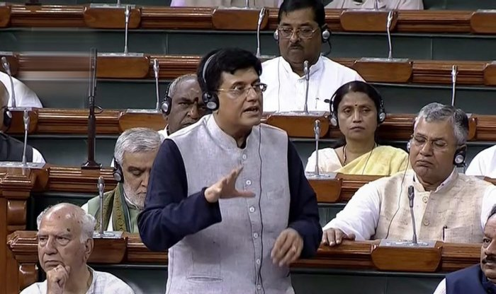The sources in the ministry said that Railway Minister Piyush Goyal has already approved the creation of the Member (Safety) post. In photo: Finance Minister Piyush Goyal speaks in the Lok Sabha, in New Delhi on Friday, Aug 3, 2018. (LSTV Grab via PTI)