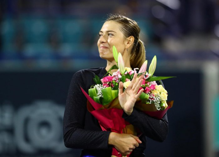 """""""It feels like a little bit of a second-hand event"""", said Sharapova, referring to the Brisbane International. (Reuters Photo)"""