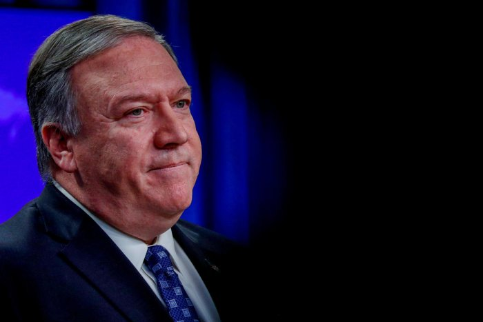 """""""Is there any history that would indicate that it was remotely possible that this kind gentleman, this diplomat of great order - Qassem Soleimani - had traveled to Baghdad for the idea of conducting a peace mission?"""" Pompeo told reporters. Credit: Reuters"""
