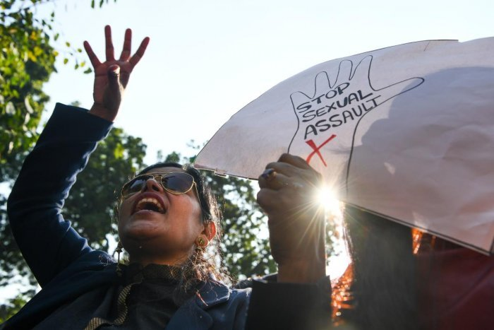 The students, who staged a protest in front of the school, alleged that the Botany teacher used to send lewd messages on mobile and touch them in an inappropriate manner. Representative image/AFP