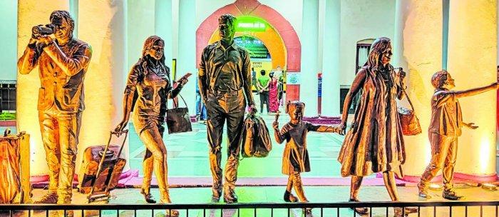 The work was undertaken by sculptor Arun Yogiraj of Kashyappa Shilpa Kalanikethana, Mysuru. DH Photo