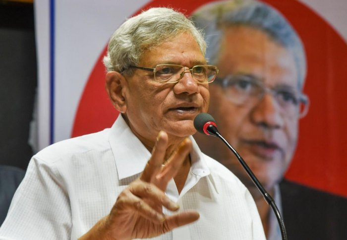 """Many members of Parliament, around 100 of them, have been contacted and they have decided to write a letter to the President, who is the visitor to the university, demanding sacking of the VC,"" Yechury said. Credit: PTI"