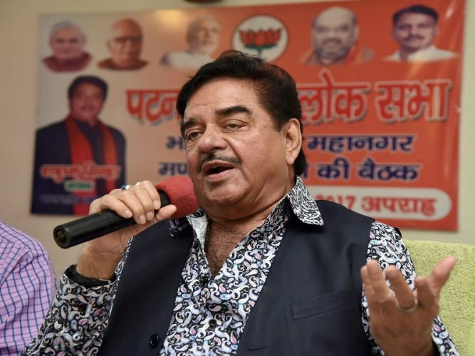 BJP MP and cinestar Shatrughan Sinha. (PTI Photo)