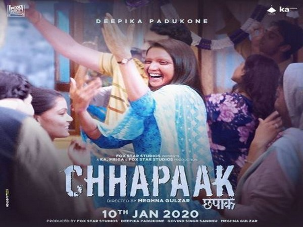 A poster of the movie Chhapaak. (Photo: Twitter/@ANI)