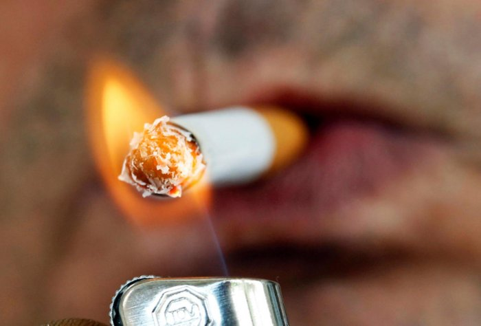 Smoking cigarette is not only a physical health hazard but a mental one too. (Reuters Photo)