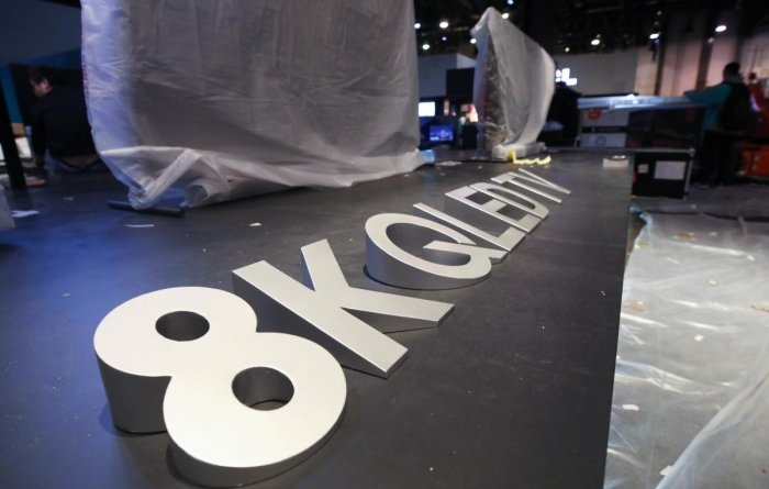 TCL showed off new 8K televisions and teased a set of new smartphones, one of them synched to super-fast 5G telecom networks, aimed specifically at the US market. (AFP Photo)