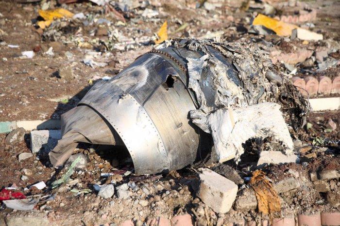 Debris of Ukraine Airlines plane that crashed in Iran. (Reuters Photo)