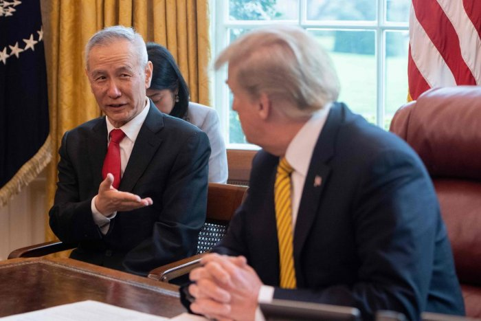 China's Vice Premier Liu He would be the negotiator in the US-China trade deal (AFP Photo)