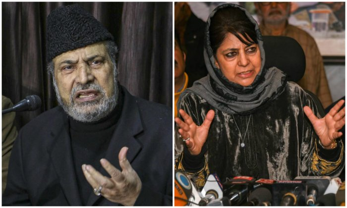 """Targeting Mehbooba for her utterances, he said her comment that """"no one in J&K would hold the Tricolour if Article 370 was tampered with"""" was wrong."""