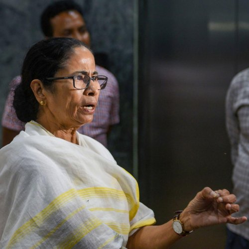 "Accusing the Left and Congress of ""double standards"", the Chief Minister said that she will boycott Sonia Gandhi's meeting as she is against the violence unleashed by the Left Front and Congress workers. Credit: PTI"