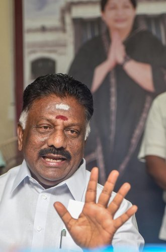"""It was done since the Home Ministry felt that it was not necessary,"""" Panneerselvam who is also the AIADMK coordinator-the top party post, said. Credit: PTI"""