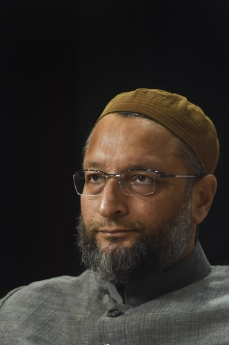 All India Majlis-e-Ittehadul Muslimeen (AIMIM) President Asaduddin Owaisi during the Lokmat National Conclave in New Delhi. (PTI Photo)