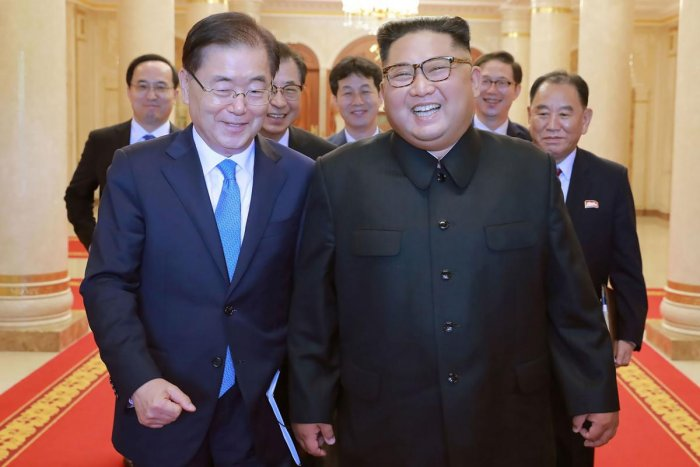 """The day we met was Kim Jong Un's birthday and President Trump remembered this and asked me to deliver the message,"" Chung said upon arrival back in South Korea."