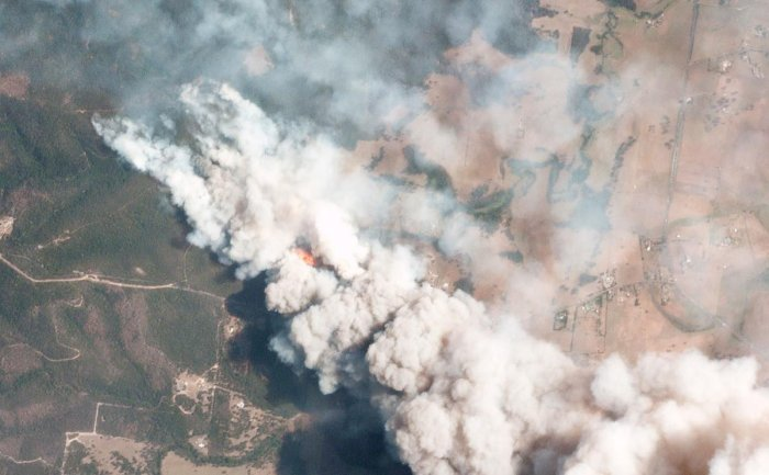 An aerial view of the Australian Bushfires (AFP Photo)