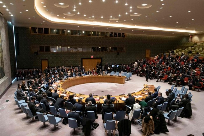 """""""The Security Council reaffirms its primary responsibility for the maintenance of international peace and security,"""" the UNSC declaration said. (AFP Photo)"""