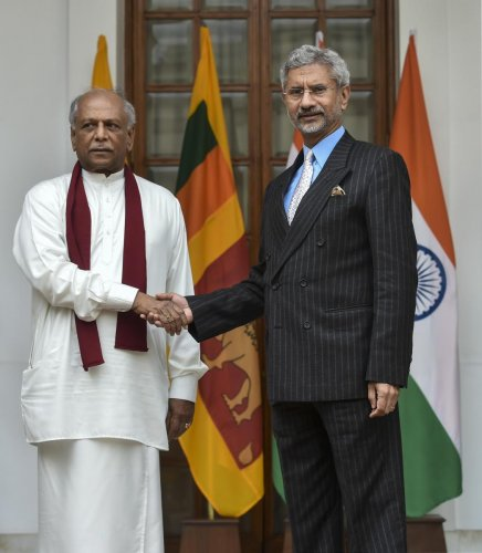 This was conveyed to External Affairs Minister S Jaishankar by his Sri Lankan counterpart Dinesh Gunawardena, who is on his first overseas visit after assuming charge as the Foreign Minister in November 2019. Credit: PTI