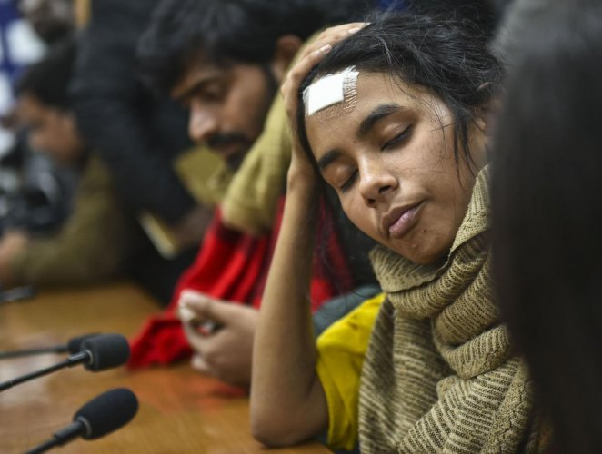 The Delhi Police earlier claimed that nine students seven of whom are from Left backed students body bodies including JNUSU president Aishe Ghosh were identified as suspects in the violence in the varsity campus.(Credit: PTI)