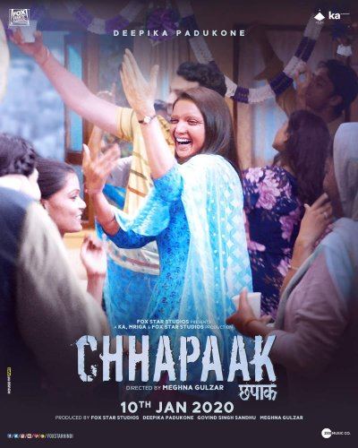 Chhapaak has received favorable reviews with most critics calling it one of the finest films of Deepika's career. As such, the industry talk is positive, which might help the drama pick up over the weekend. (Twitter image/@meghnagulzar)