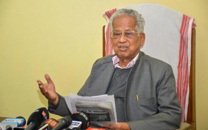 Former Assam CM Tarun Gogoi. (Credit: PTI)
