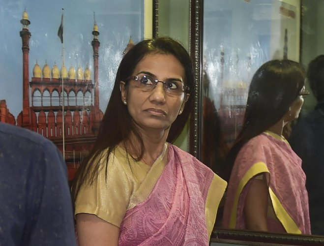 Former ICICI Bank CEO Chanda Kochhar arrives to appear before Enforcement Directorate (ED) in connection with a bank loan fraud and money laundering case probe, in New Delhi, Monday, May 13, 2019. (PTI Photo)