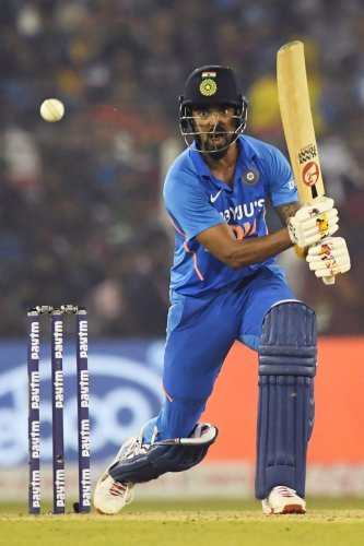 KL Rahul ranked sixth in the list while being the highest-ranked Indian batsman in the recently released ICC T20I rankings. (AFP Photo)