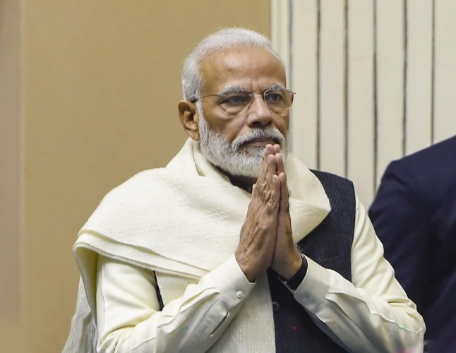 Prime Minister Narendra Modi during the launch of the Atal Bhujal Yojana, a mission to help in supplying water to every house-hold by 2024, at a function in New Delhi, Wednesday, Dec. 25, 2019. (PTI Photo/Shahbaz Khan)