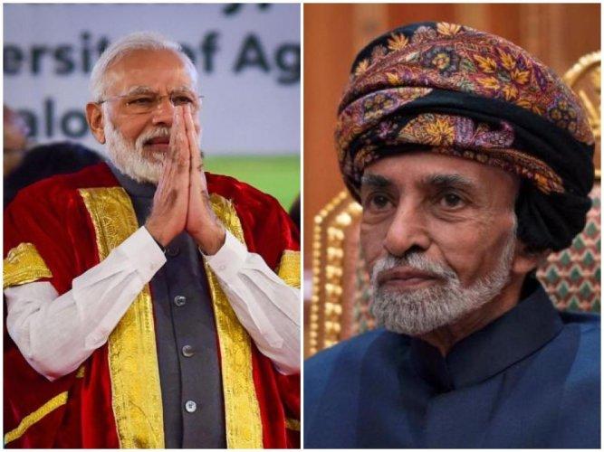 Narendra Modi (left), Oman Sultan Qaboos (right) (PTI/Reuters Photo)