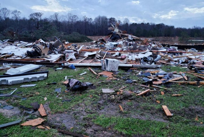 Severe storms sweeping across the southern US. (AFP Photo)