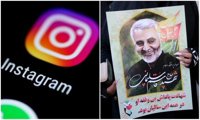 Instagram shut down Soleimani's personal account last April after the U.S. designated the Islamic Revolutionary Guards a foreign terrorist organization.