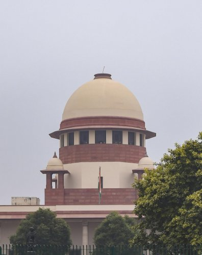 A view of Supreme Court in New Delhi, Tuesday, Dec. 17, 2019. Alakh Alok Srivastava's filed a complaint with Delhi Police today, seeking registration of FIR against Delhi Deputy Chief Minister Manish Sisodia, who had alleged in a series of tweets that Del