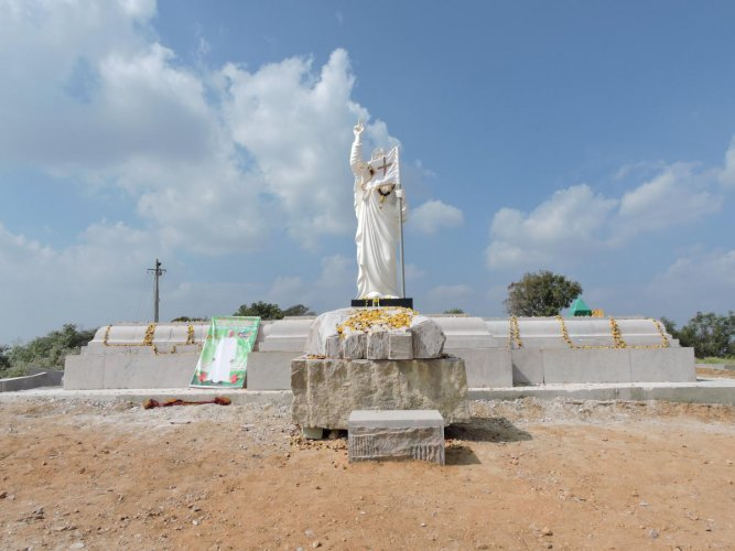 Saffron outfits plan to petition authorities, demanding withdrawal of land for the Jesus statue in Kanakapura.