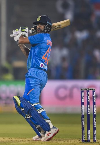 In their last meeting in the ODI World Cup, it was Dhawan's superb hundred that paved the way for an easy victory for the Indians. (PTI Photo)