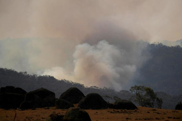 Smoke rises from a fire at the Adaminaby Complex near Yaouk, New South Wales, Australia January 11, 2020. (Reuters Photo)