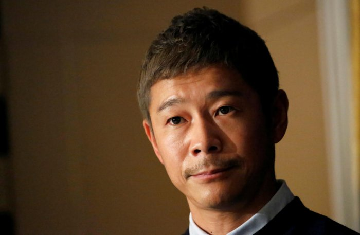 Japanese billionaire Yusaku Maezawa, founder and chief executive of online fashion retailer Zozo, who has been chosen as the first private passenger by SpaceX. (REUTERS PHOTO)