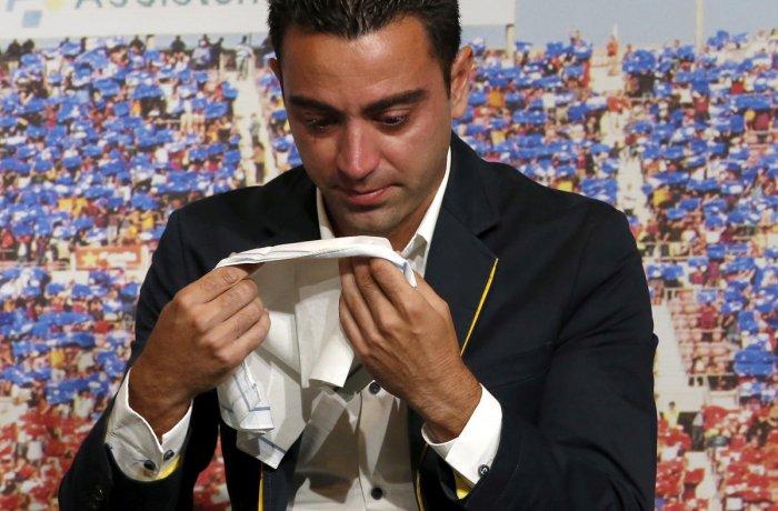 Xavi: Barca legend to be their next coach? (Reuters Photo)